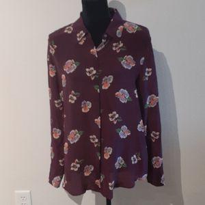 NWT STITCH FIX Lavender Brown sz M 100% silk top